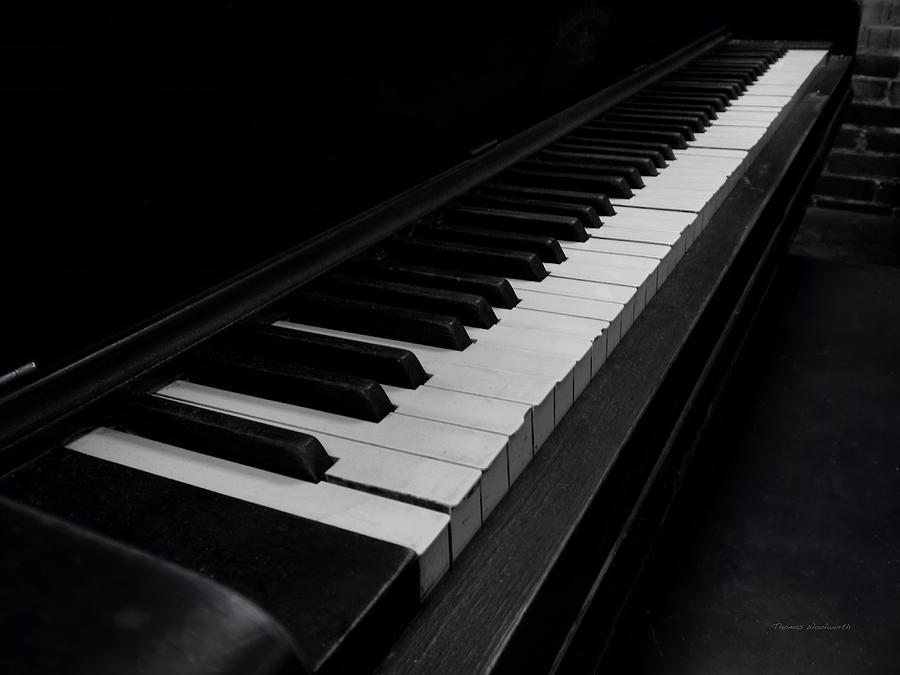 Keyboard Photograph - 88 Keys by Thomas Woolworth
