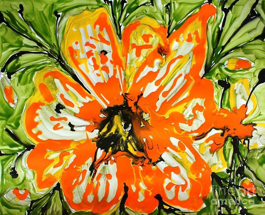 Flowers Painting - Mann Flowers by Baljit Chadha