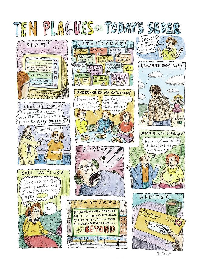 New Yorker April 13th, 2009 Drawing by Roz Chast