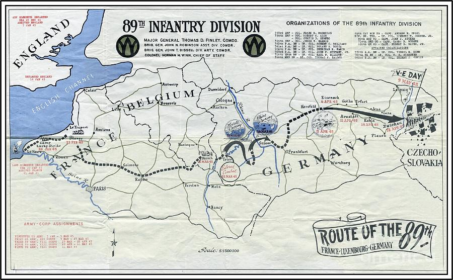 89th infantry division world war i i map mixed media by marilyn smith world war ii mixed media 89th infantry division world war i i map by marilyn smith gumiabroncs Image collections