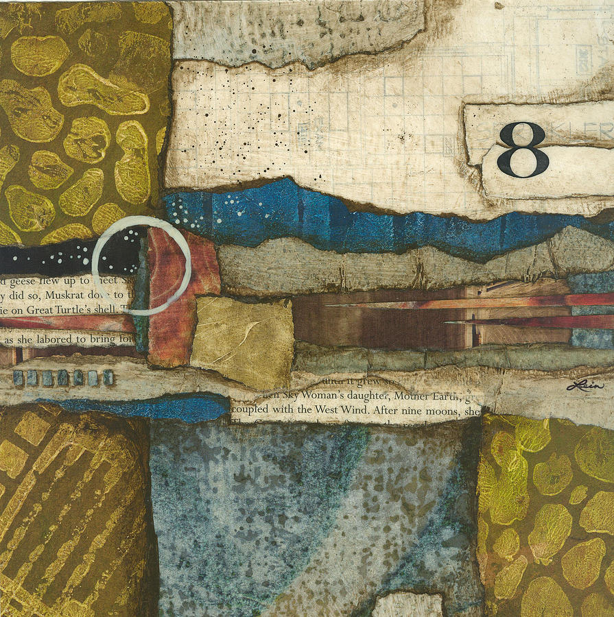 Collage Mixed Media - 8th Before The Nineth Moon by Laura  Lein-Svencner