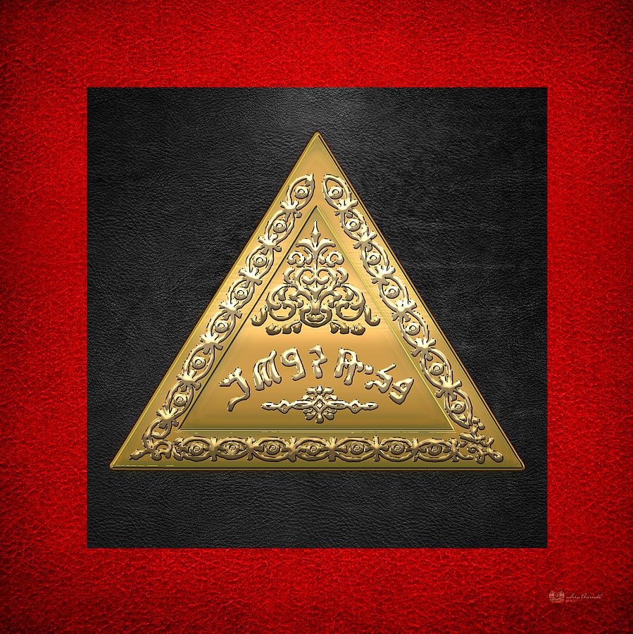 Scottish Rite Of Freemasonry Digital Art - 8th Degree Mason - Intendant Of The Building Masonic Jewel  by Serge Averbukh