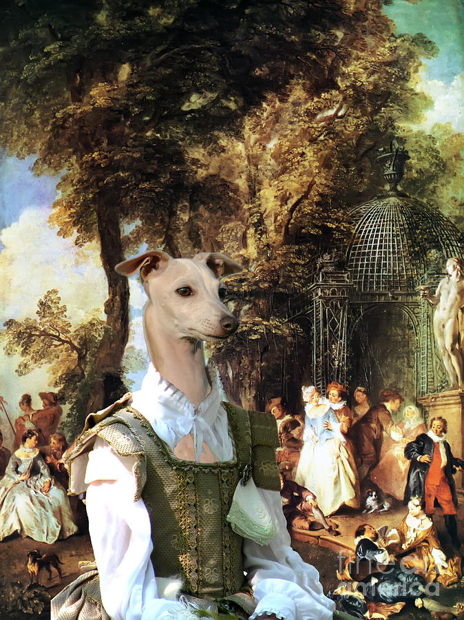 Italian Greyhound Painting -  Italian Greyhound Art Canvas Print  by Sandra Sij
