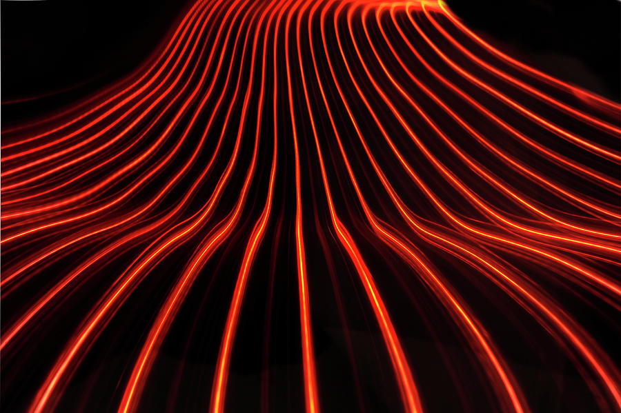 Abstract Light Trails And Streams Photograph by John Rensten