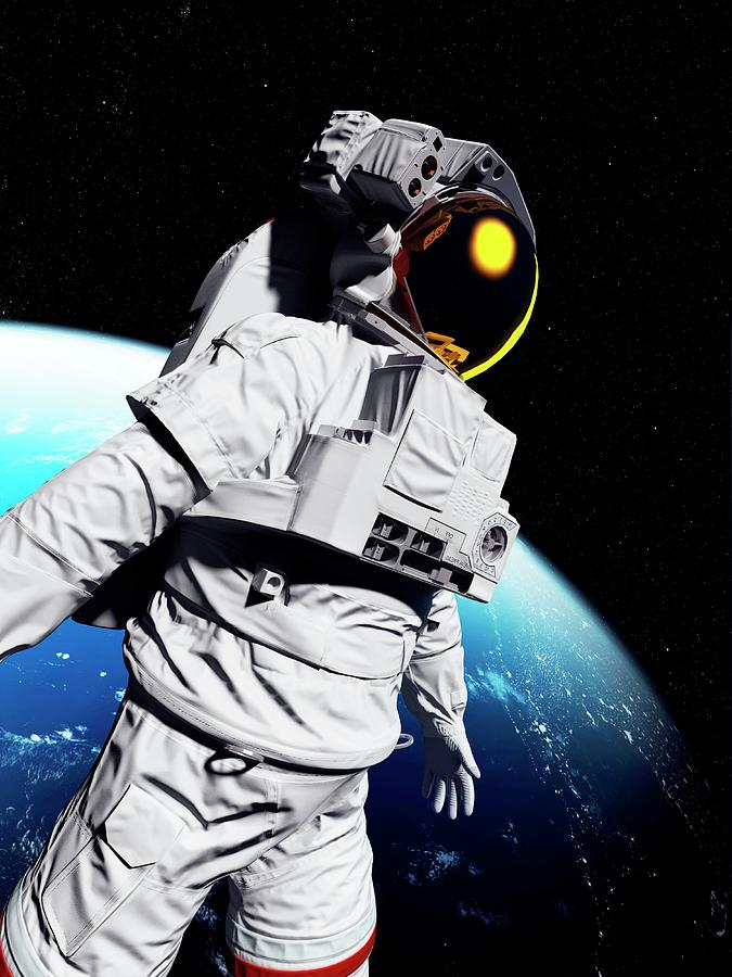 Artwork Photograph - Astronaut In Space by Sciepro/science Photo Library