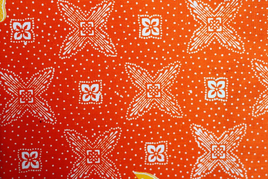 Plaid Tapestry - Textile - Colorful Batik Cloth Fabric Background  by Prakasit Khuansuwan