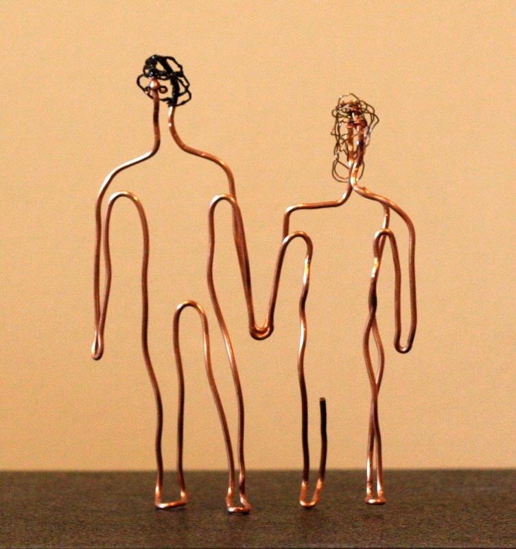 Man Sculpture - Couple Walking by Mel Drucker