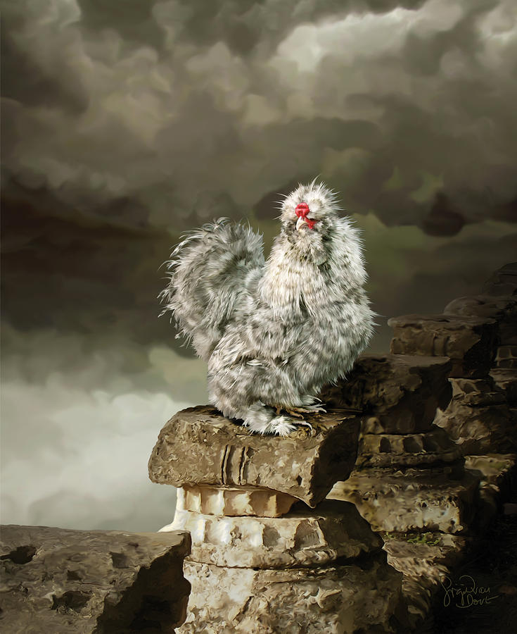 Chicken Digital Art - 9. Cuckoo Angela by Sigrid Van Dort