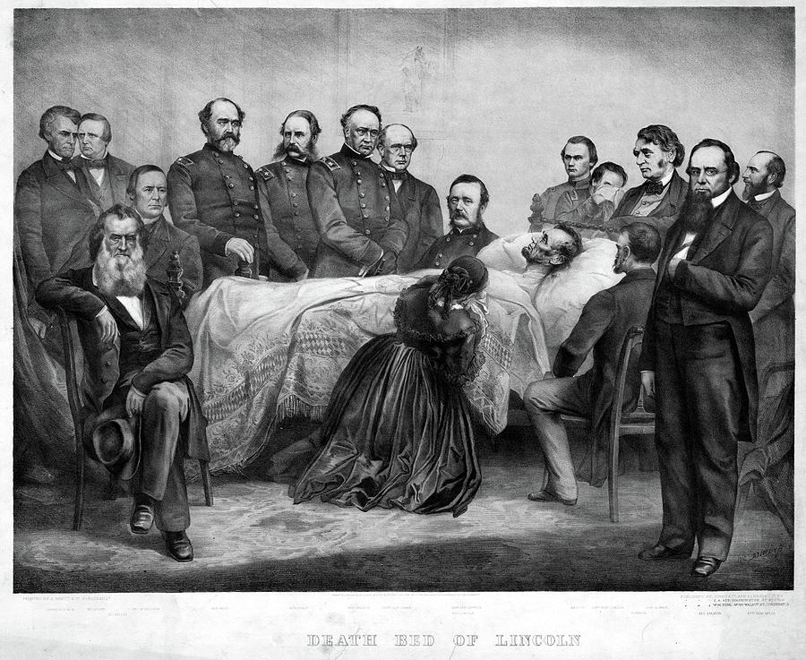 1865 Painting - Death Of Lincoln, 1865 by Granger