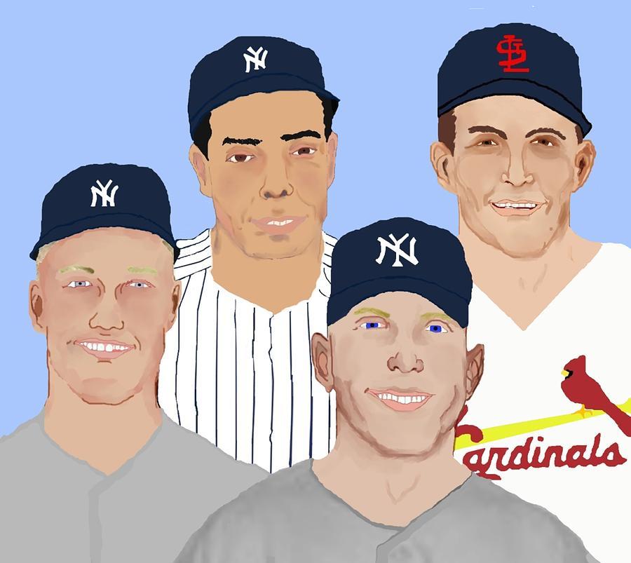 Baseball Painting - 9-inning Legends by Pharris Art
