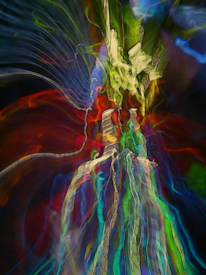 Light Strands Digital Art - Light Strands by D Preble