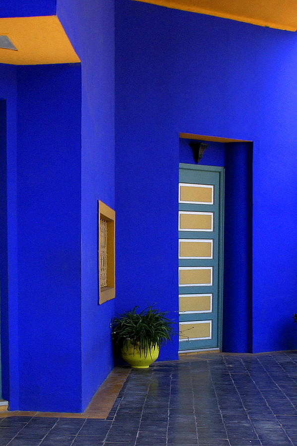 Majorelle Garden Photograph - Majorelle Garden Marrakesh Morocco by Ralph A  Ledergerber-Photography