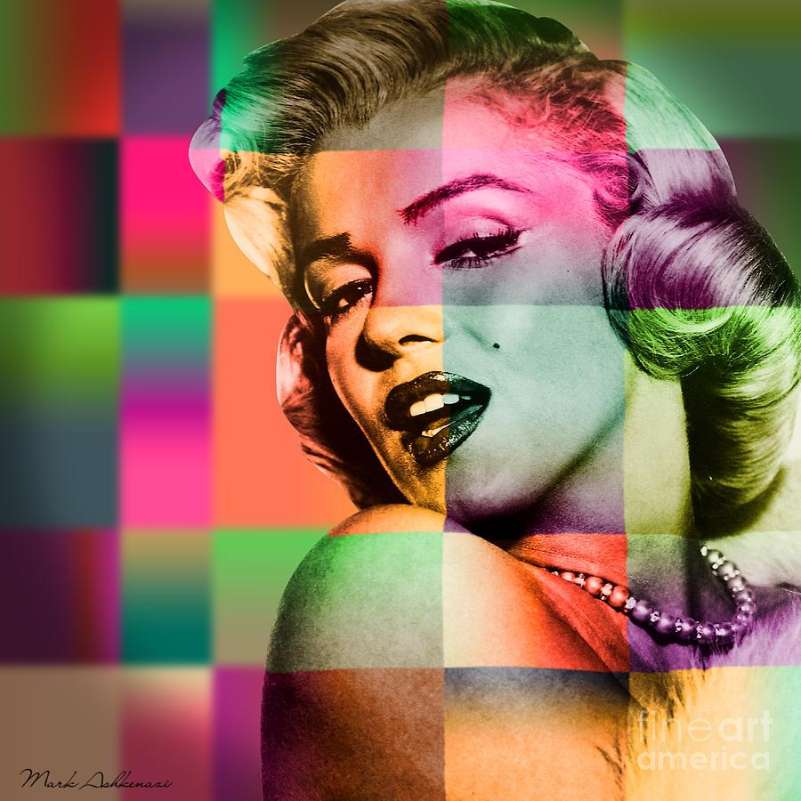 Famous Women Digital Art - Marilyn Monroe by Mark Ashkenazi