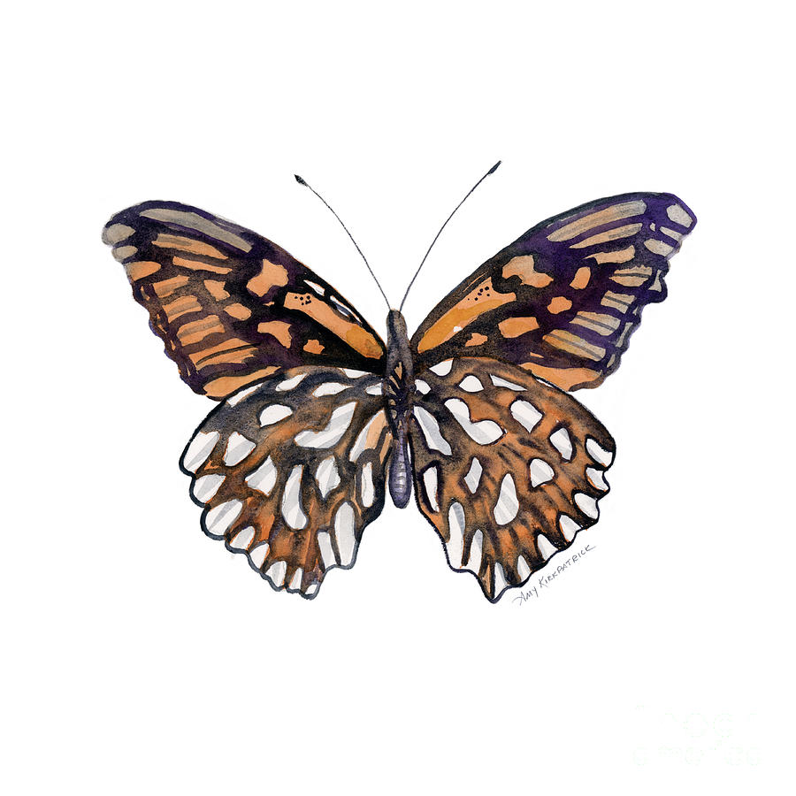9 Mexican Silver Spot Butterfly Painting
