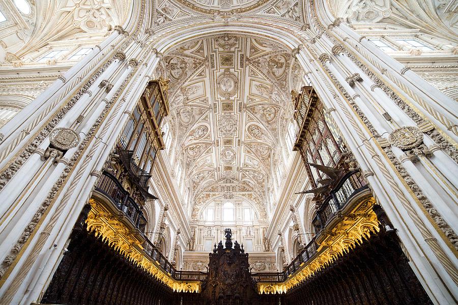 Mezquita Photograph - Mezquita Cathedral Interior In Cordoba by Artur Bogacki