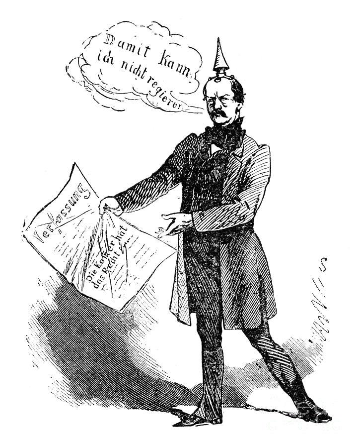 1862 Drawing - Prince Otto Von Bismarck  by Granger
