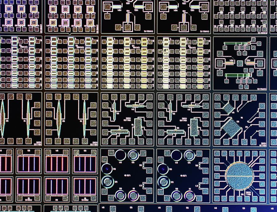 Computer Photograph - Surface Of Microchip by Alfred Pasieka