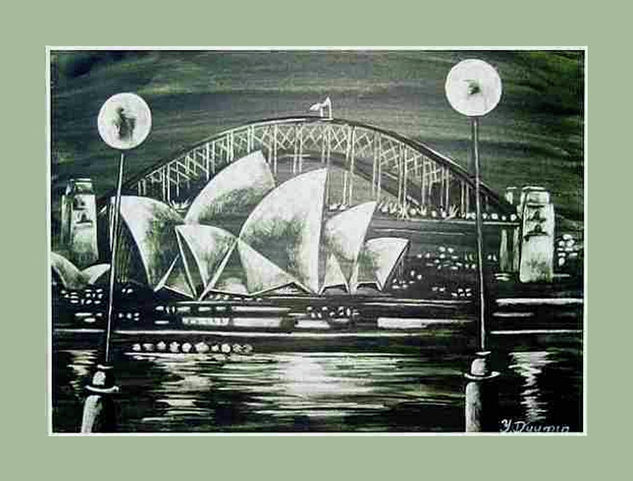 Australia Drawing - Sydney Opera House by Yelena Revis
