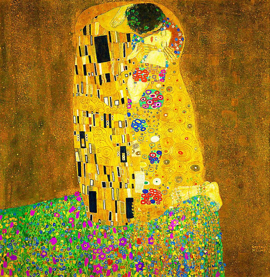 Gustav Klimt Painting - The Kiss  by Gustav Klimt