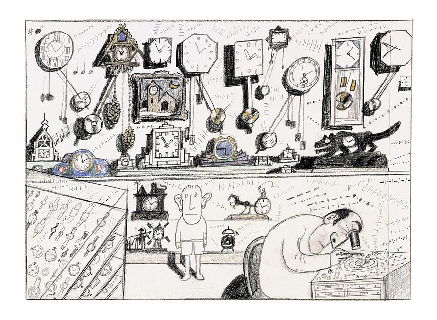 New Yorker August 23rd, 2004 Drawing by Saul Steinberg