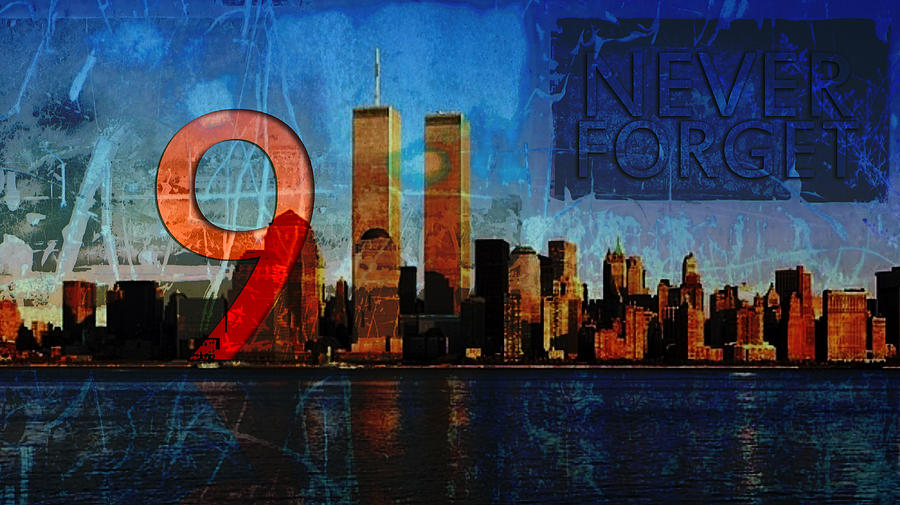 9-11 Photograph - 911 Never Forget by Anita Burgermeister