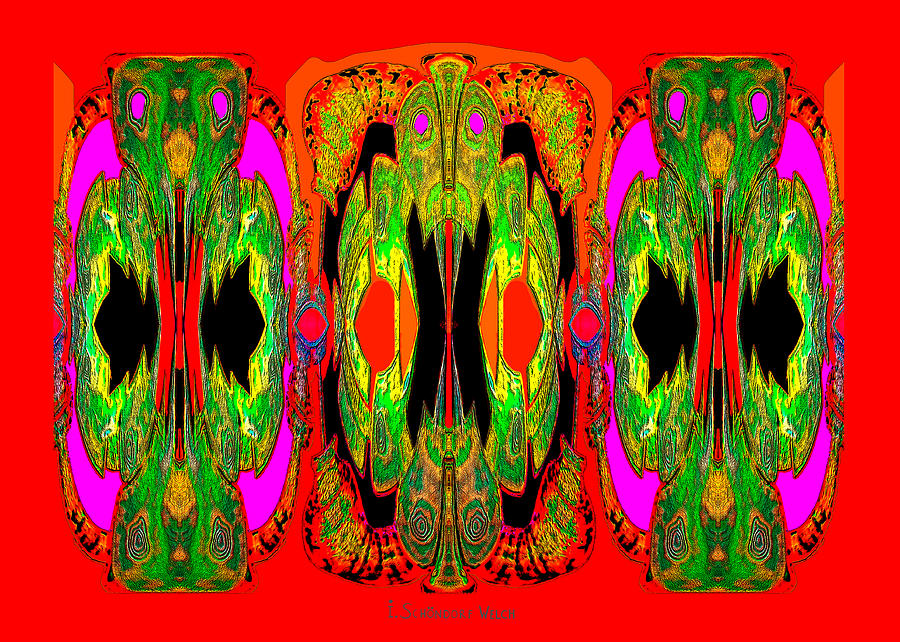 922 Digital Art - 922 - A Psychedelic View ... by Irmgard Schoendorf Welch