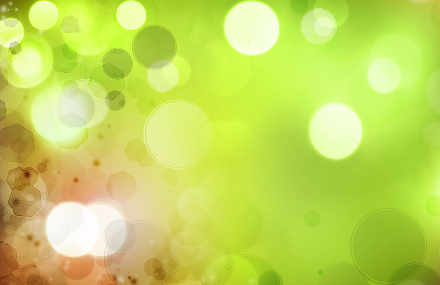Glow Photograph - Abstract Background by Les Cunliffe