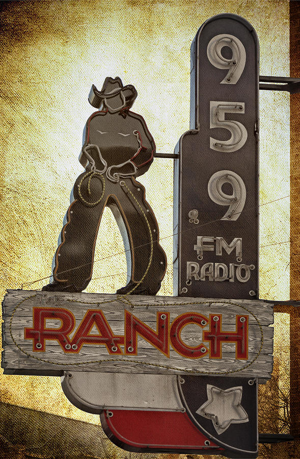 Radio Station Photograph - 95.9 The Ranch by Joan Carroll