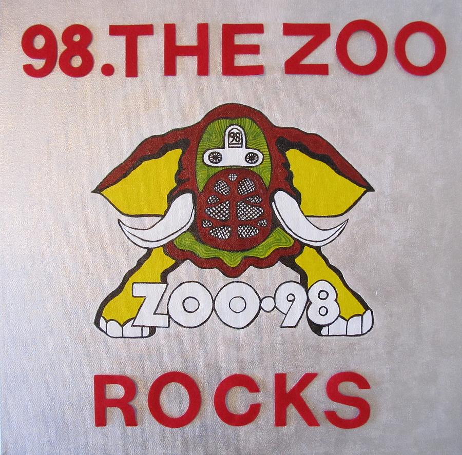 Elephant Pictures Posters Greeting Cards Prints Art Prints Painting - 98.the Zoo Rocks by Donna Wilson