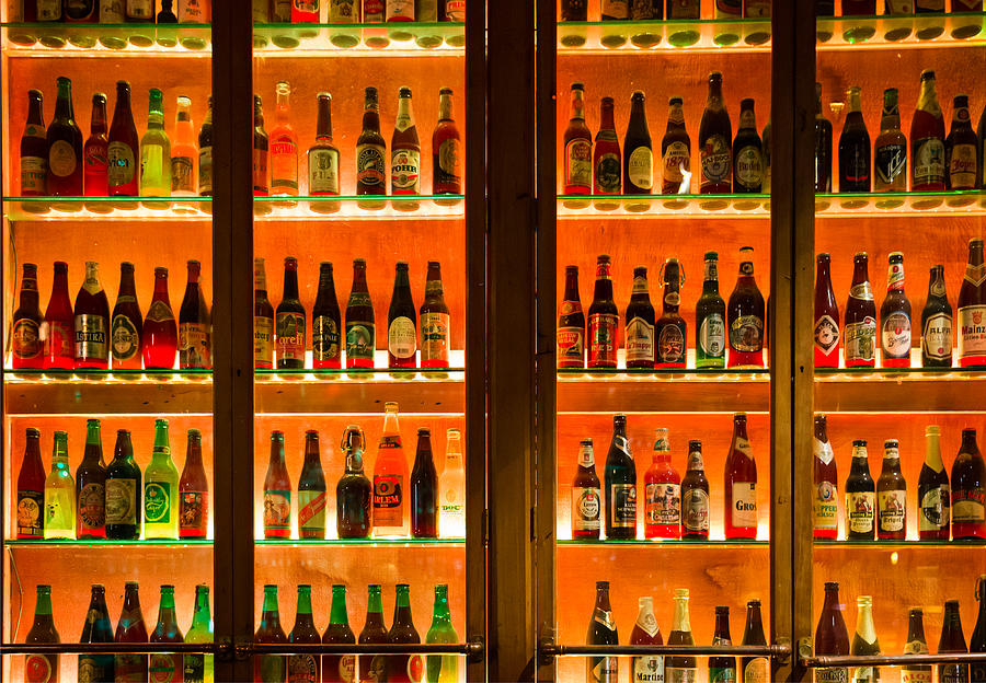 Amber Photograph - 99 Bottles Of Beer On The Wall by Semmick Photo