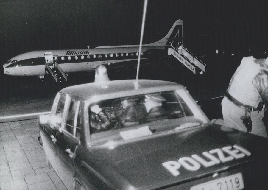 Retro Photograph - A Aeroplane Hijacked To Munich by Retro Images Archive