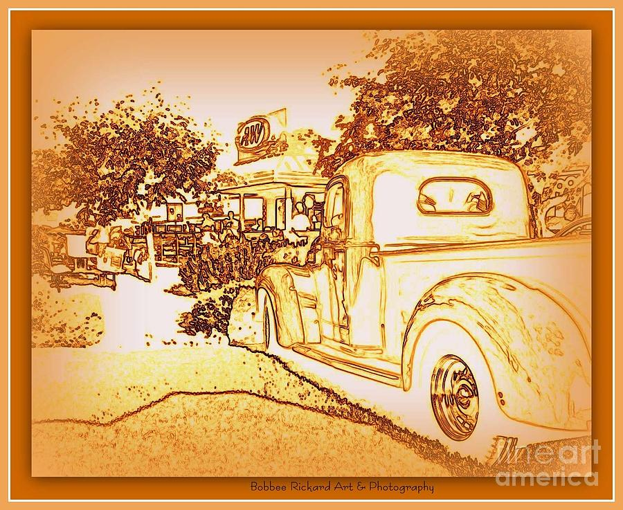 Classic Car Photograph - A And W Drive In by Bobbee Rickard