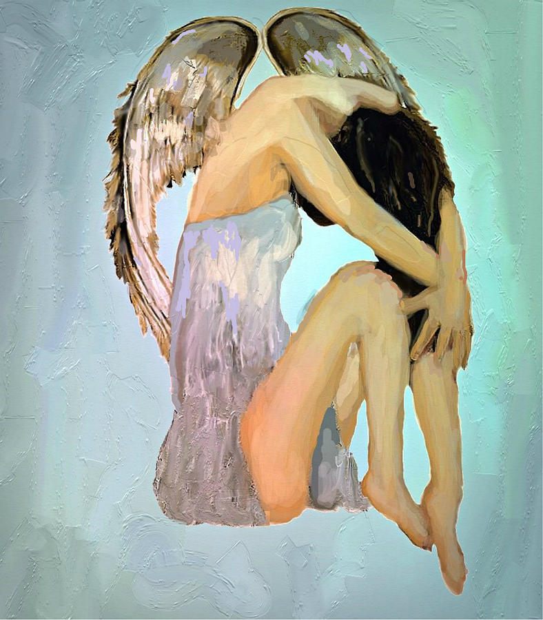 Angel Painting - A Angels Tears by Iris Piraino