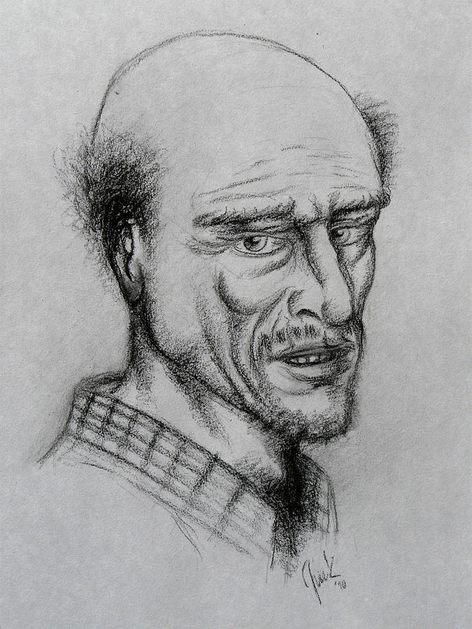 A Bald Guy Drawing by Joaquin Maldonado