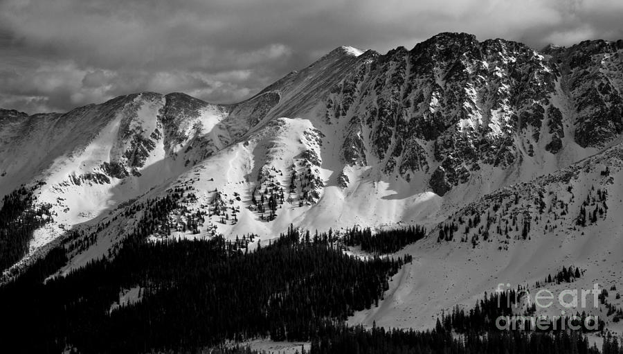 Mountain Photograph - A Basin In Black And White by Benjamin Reed