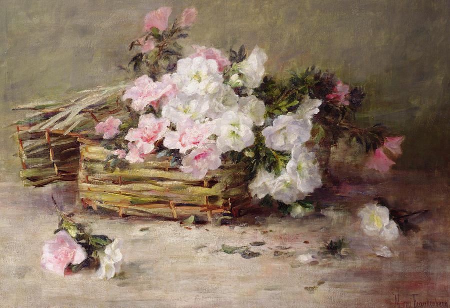 A Basket Of Flowers Painting By Margaret Von Frankenberg