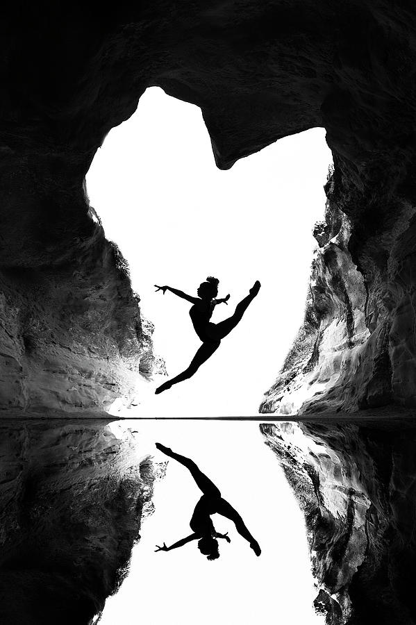 Bw Photograph - A Beating Heart by E.amer
