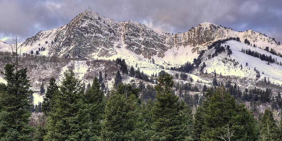 Ogden Photograph - A Beautiful View Of Mount Ogden From Snowbasin 2/1 Pano by Ryan Smith