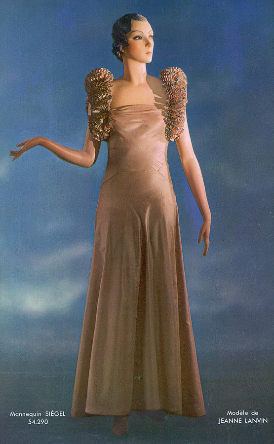 A Bias Cut Pink Satin Gown By Jeanne Photograph by Mary Evans ...