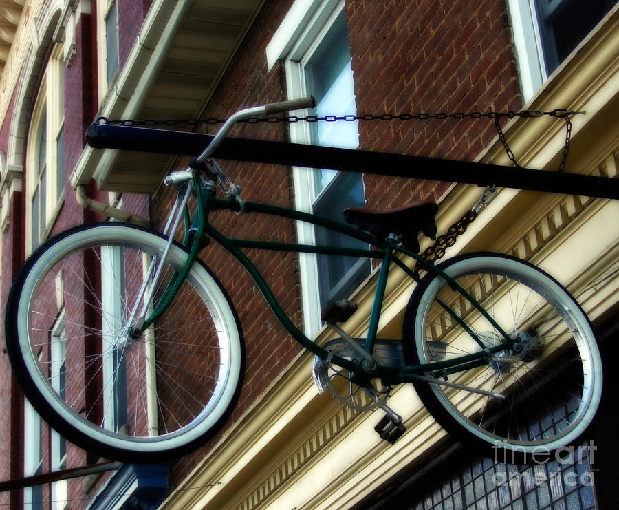 Bike Photograph - A Bike Hanging  by Steven Digman
