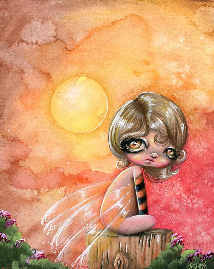 Whimsical Drawing - A Blazing Day by Sour Taffy