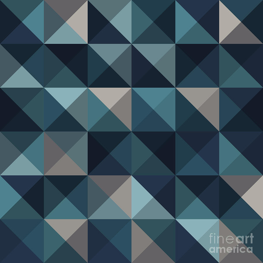 Pattern Digital Art - A Blue Abstract Vector Pattern by Mike Taylor