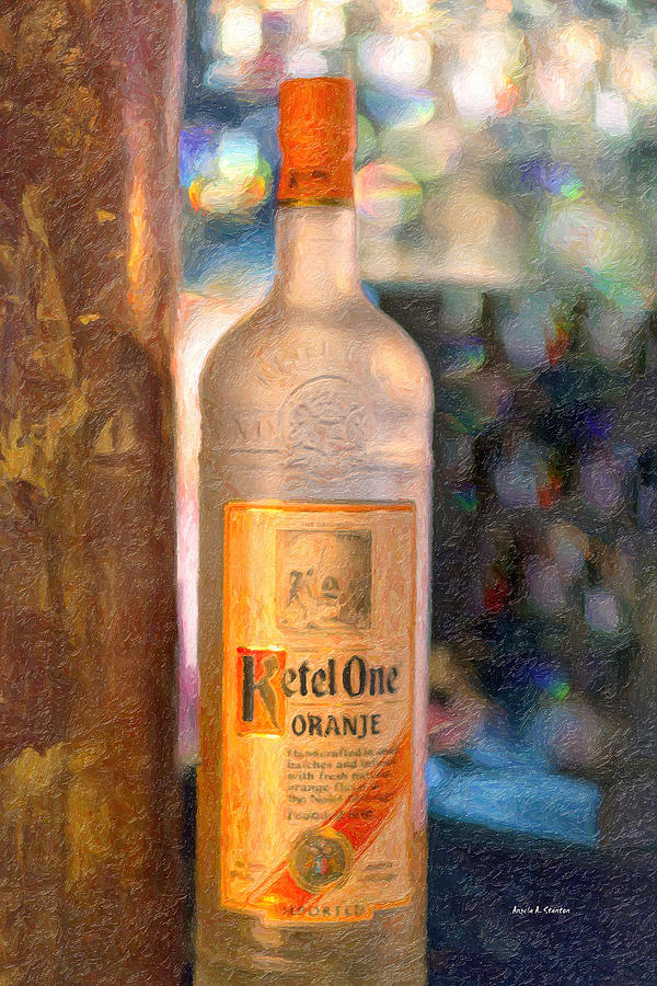 Alcohol Painting - A Bottle Of Ketel One by Angela A Stanton