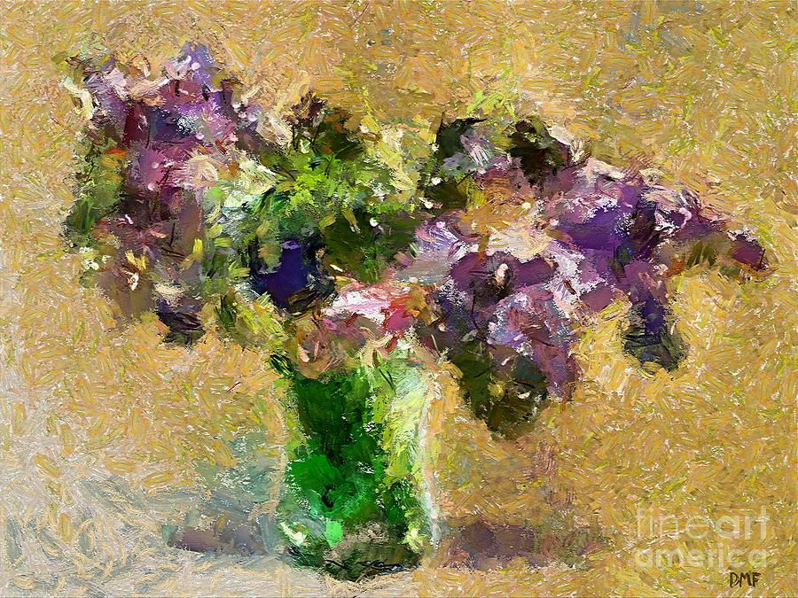 Stilllife Painting - A Bouquet Of Lilac by Dragica  Micki Fortuna