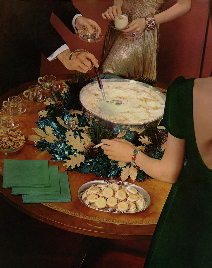 A Bowl Of Eggnog Photograph by Anton Bruehl