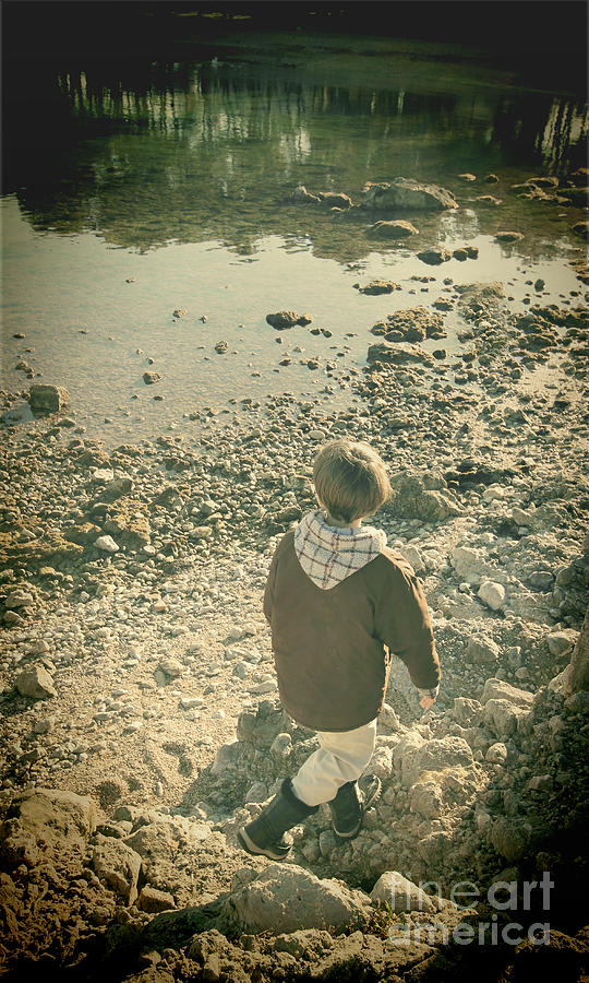 Boy Photograph - A Boy by Jasna Buncic