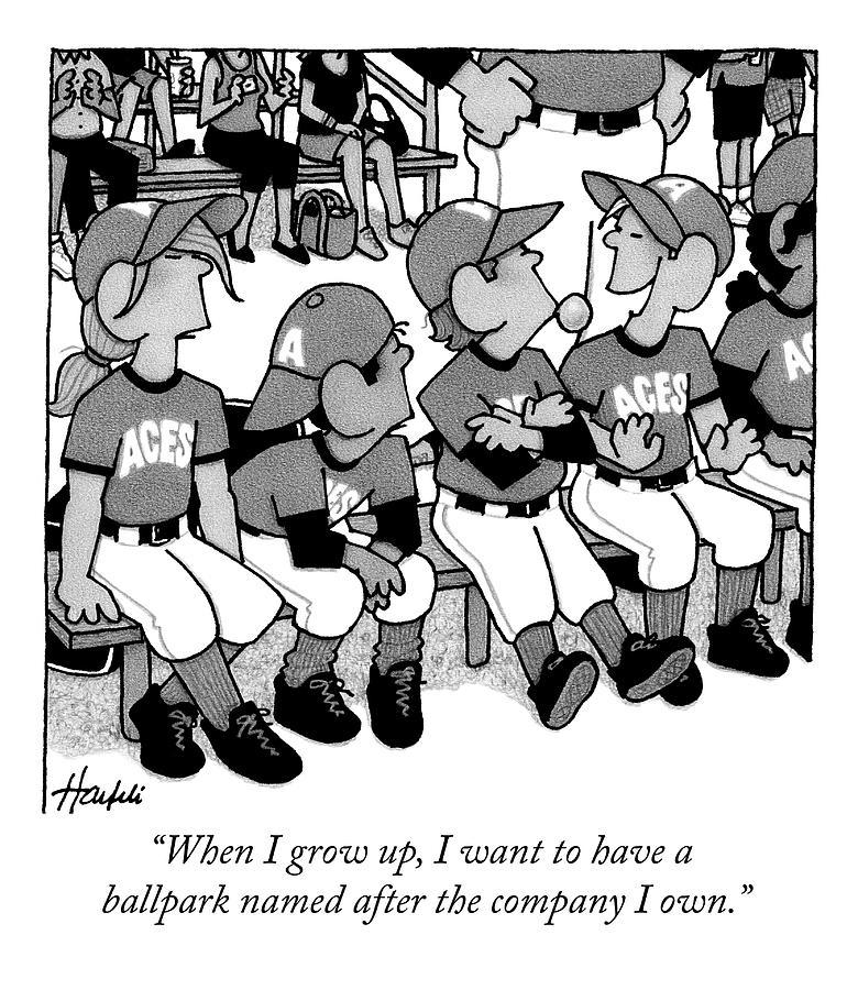 A Boy On A Little League Team Talks Drawing by William Haefeli