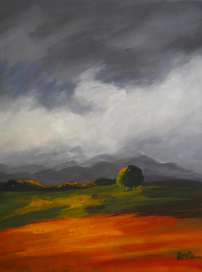 Sky Painting - A Break In The Clouds by Sally Bullers