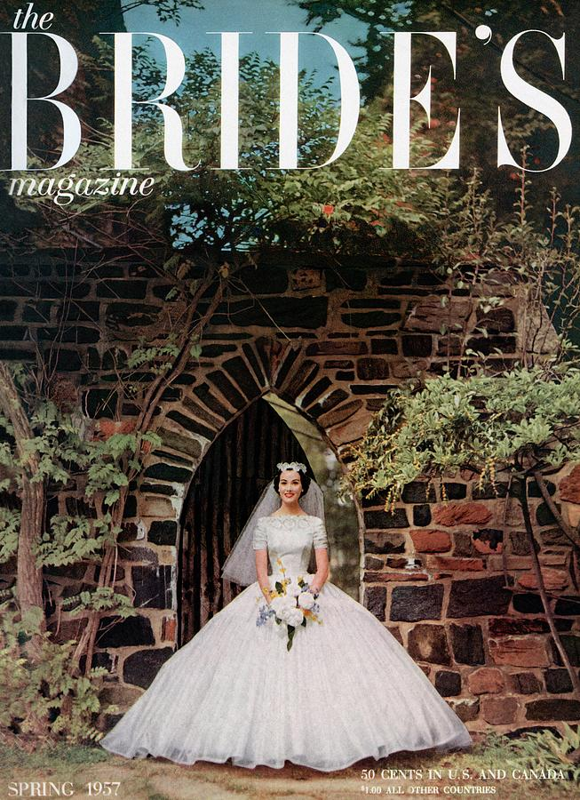 Fashion Photograph - A Bride In Front Of Stone Gate by Carmen Schiavone