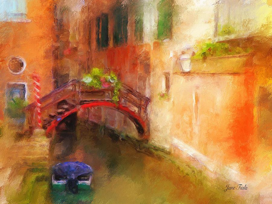 Landscape Painting - A Bridge In Venice by Jane Fiala